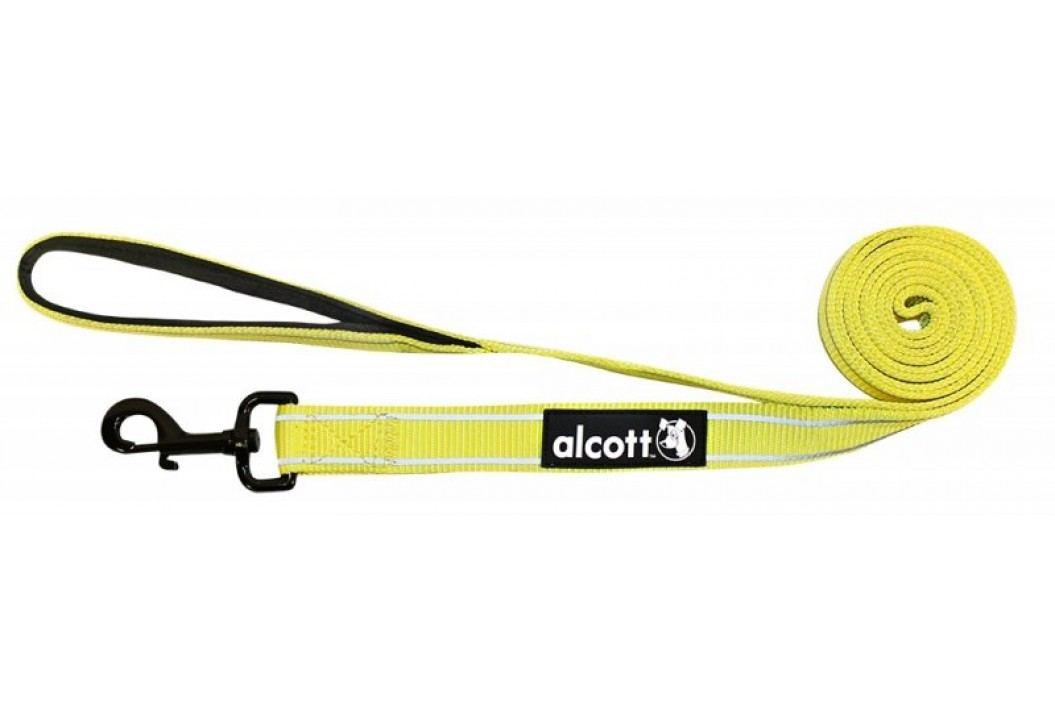 Alcott odblaskowa smycz dla psa 180 cm żółty L Smycze