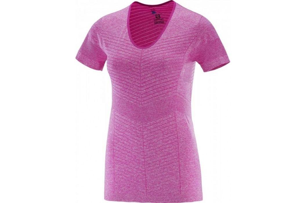 Salomon Elevate Seamless Ss Tee W Rose Violet XS Koszulki biegowe, fitness