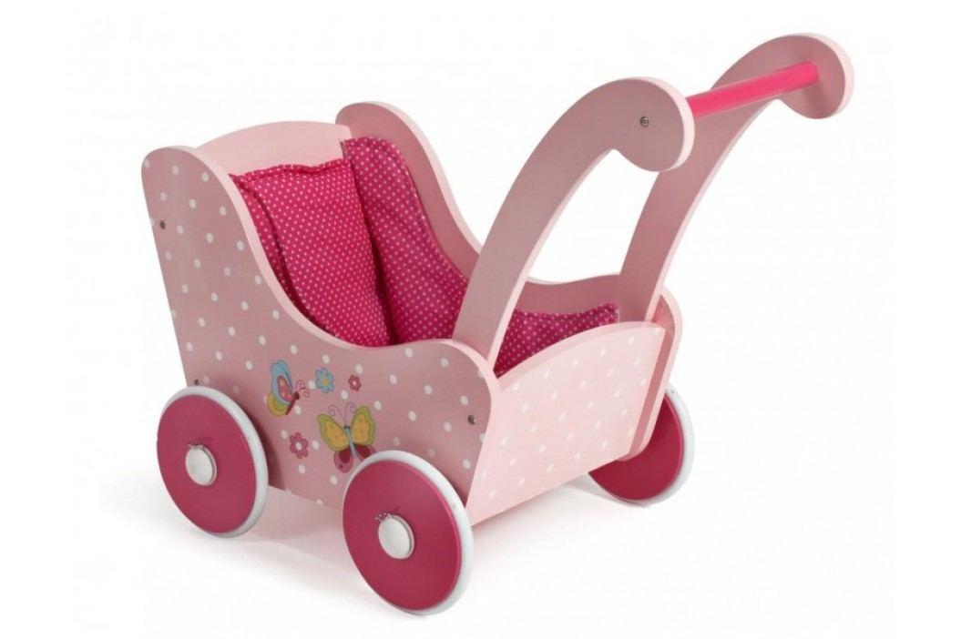 Bayer Chic Drewniany wózek dla lalek retro różowy Wózki dla lalek