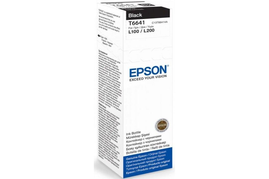 Epson oryginalny tusz T6641, czarny (C13T66414A) Materiały eksploatacyjne
