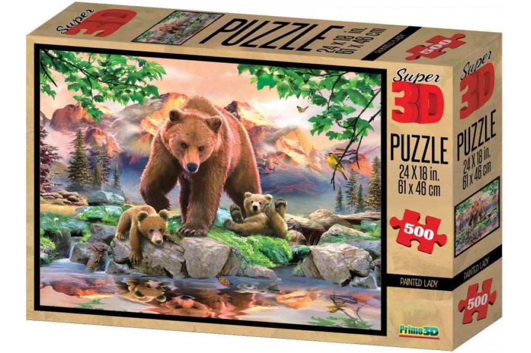 Lamps Puzzle 3D Niedźwiedzie 500 el. Puzzle
