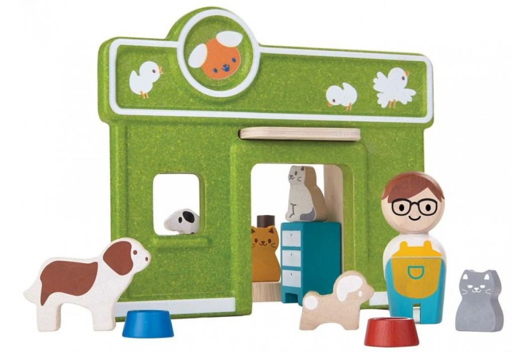 Plan Toys Klinika weterynarii Drewniane domki dla lalek