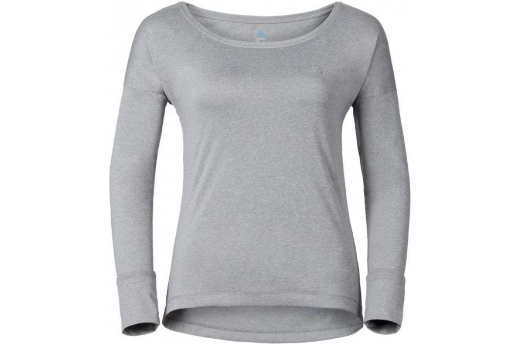 ODLO koszulka z długim rękawem Tebe Grey Melange M Koszulki biegowe, fitness