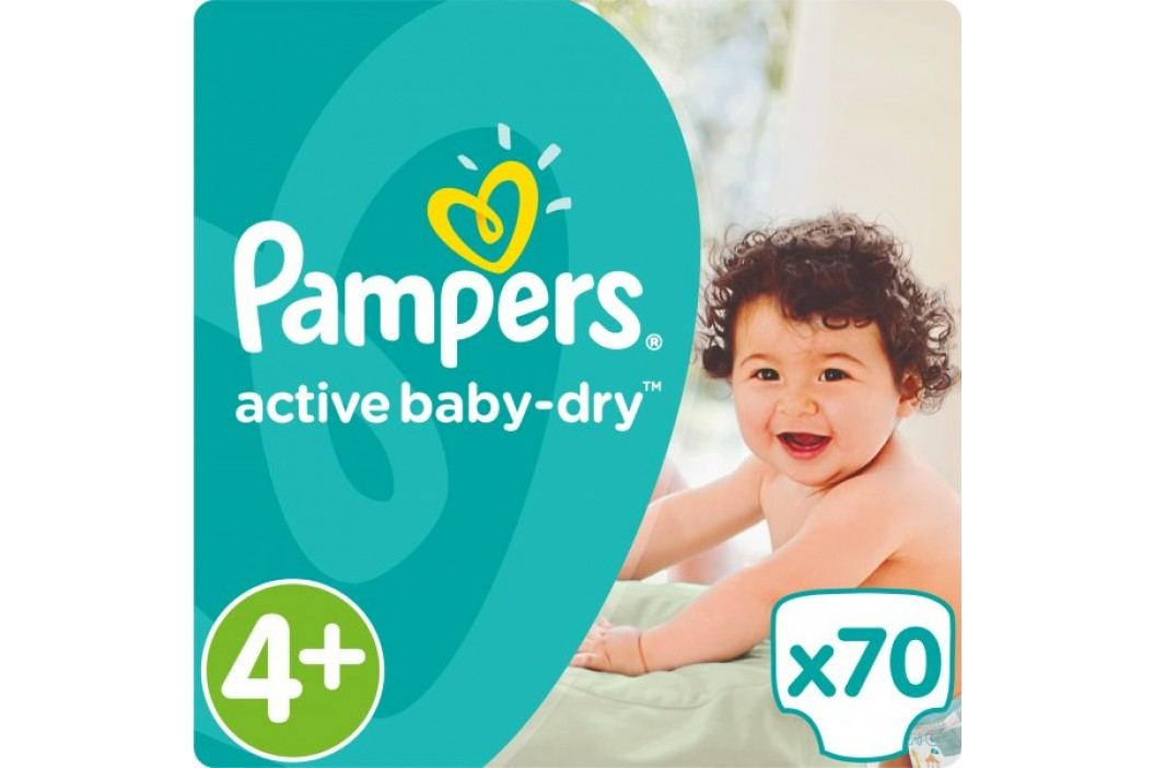 Pampers Pieluchy Active Baby 4+Maxi (9-16kg), 70 sztuk Pampers