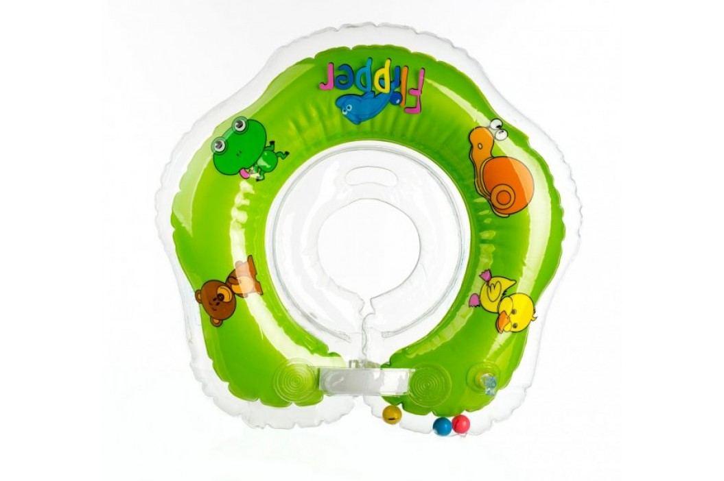 Teddies BABY Kółko do pływania dla niemowląt Flipper zielone Dziecięce baseny i zabawki