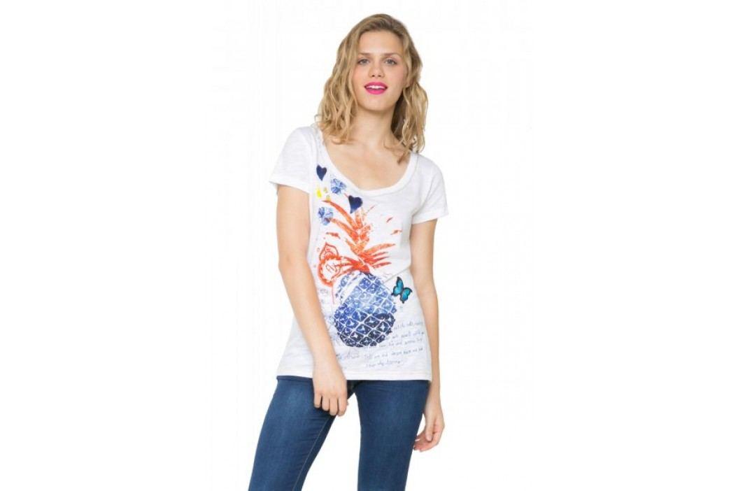 Desigual T-shirt damski XS biały Koszulki
