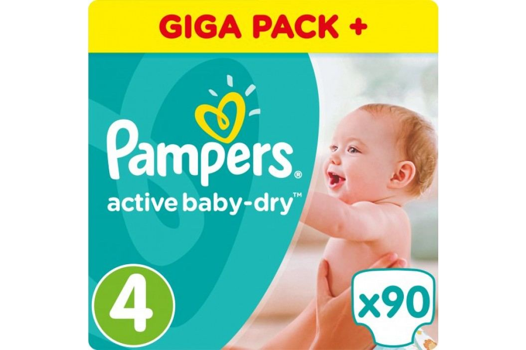 Pampers Pieluchy Active Baby 4 Maxi, GiantBox, 90 sztuk Pampers