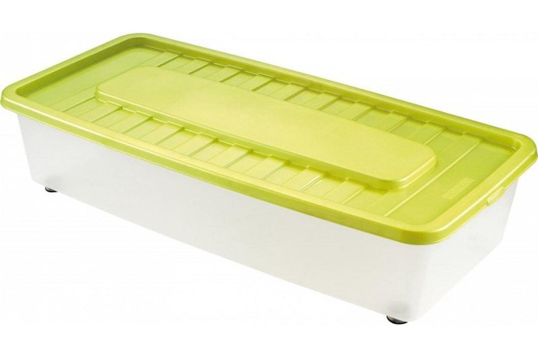 Heidrun Box úložný pod postel 35 l, zelená Skrzynki, pojemniki