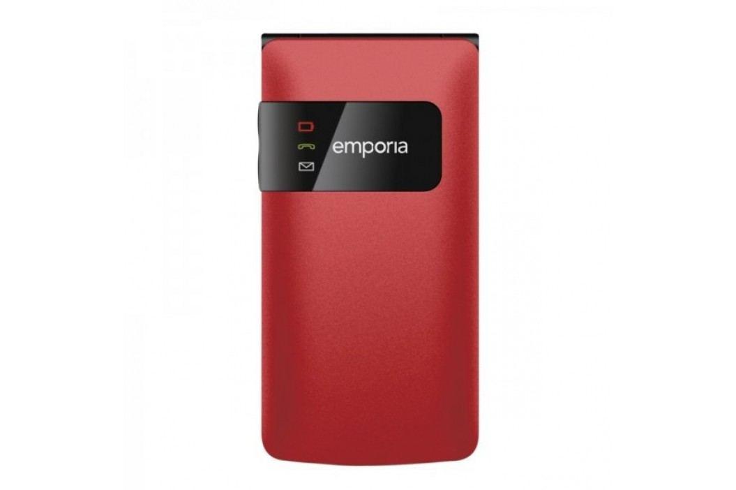 Emporia telefon komórkowy Flip Basic F220, czerwony Telefony