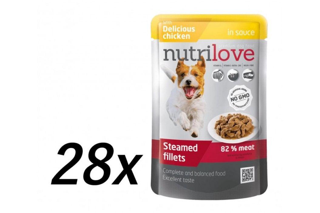 Nutrilove saszetki dla psa z kurczakiem 28 x 85g Saszetki
