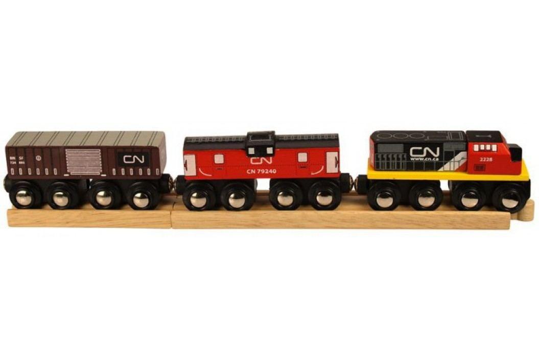 Bigjigs Rail CN pociąg + wagony Kolejki, lokomotywy