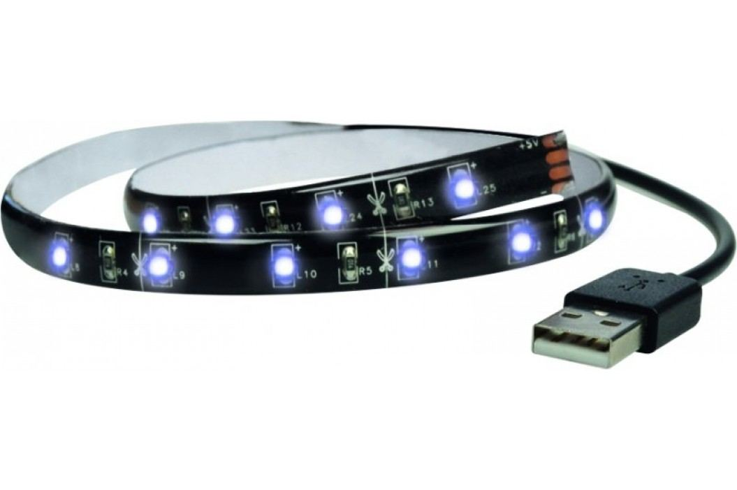 Solight Taśma LED 100 cm, USB, zimna biel Żarówki