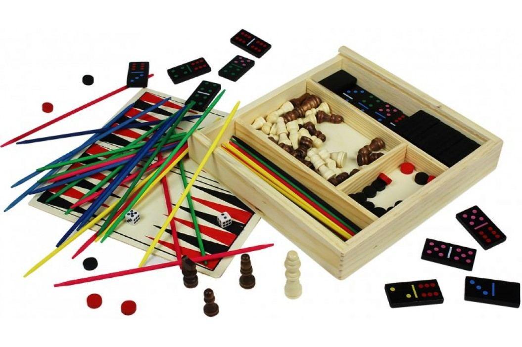 Marionette Zestaw 5 gier w drewnianym pudełku Drewniane puzzle, gry