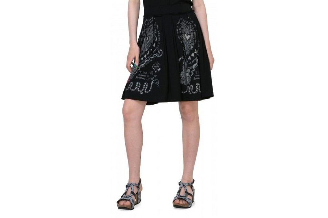 Desigual spódnica damska Lola XS czarny Spódnice, sukienki