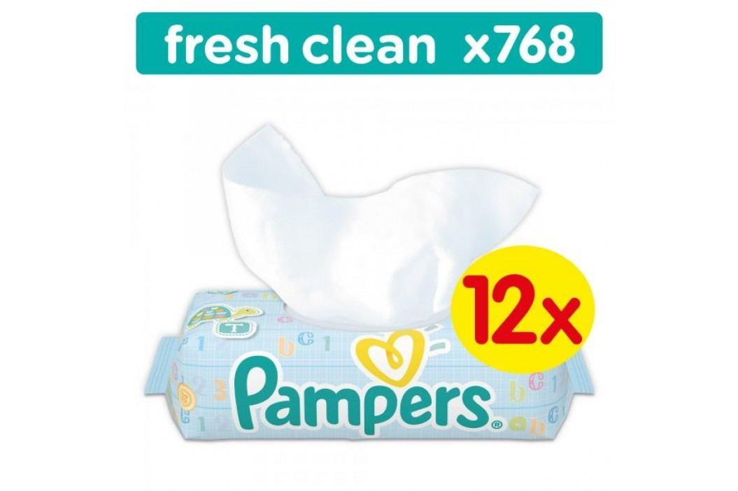 Pampers Chusteczki nawilżane Baby Fresh Clean 12x64 szt. Chusteczki nawilżane