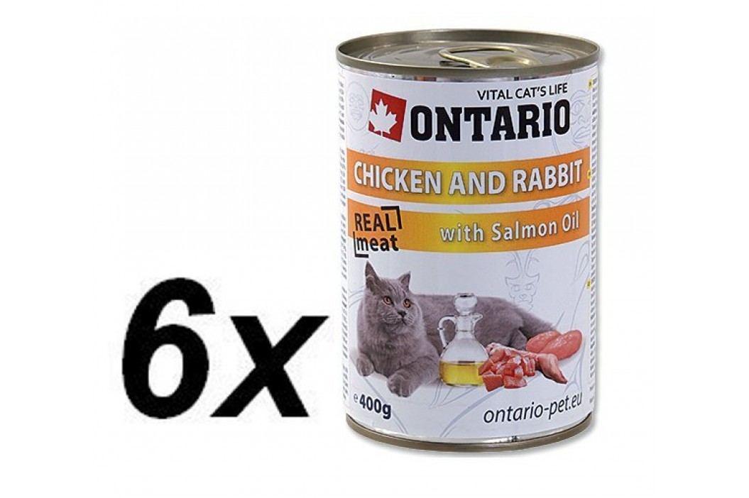 Ontario mokra karma dla kota Kura, królik i olej z łososia - 6 x 400 g. Konserwy