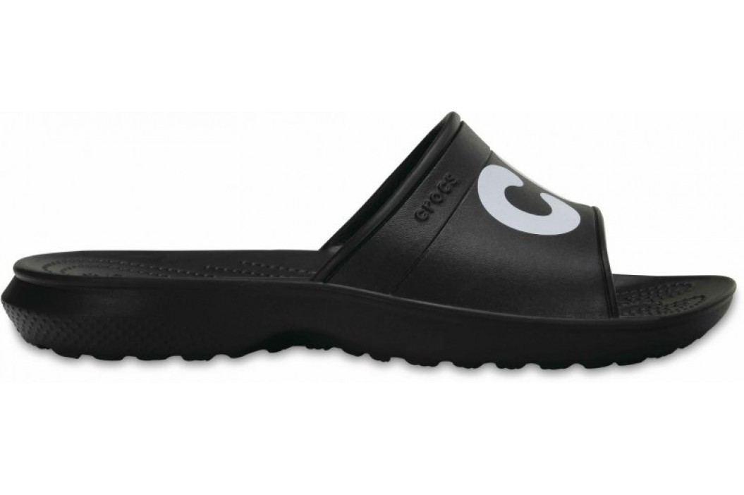 Crocs klapki Classic Slide Black White Sandały, Crocsy