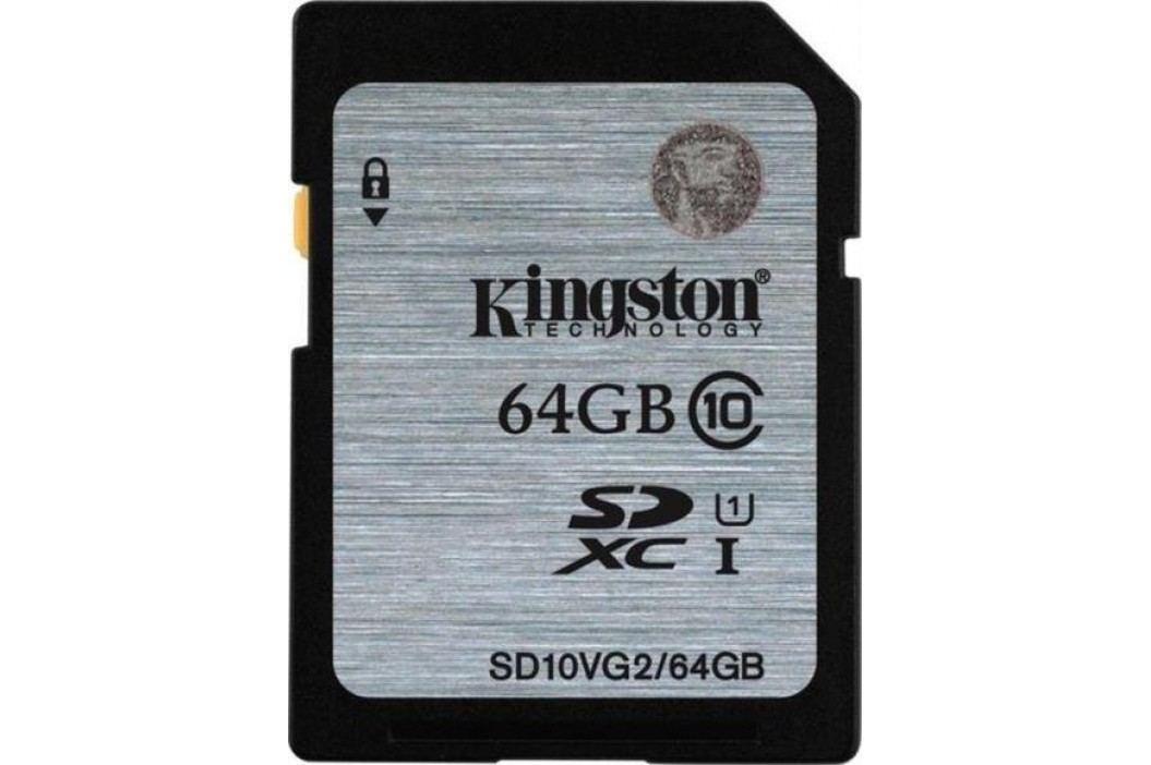 Kingston karta pamięci SDHC 64GB (UHS-1) 45MB/s (SD10VG2/64GB) Karty pamięci