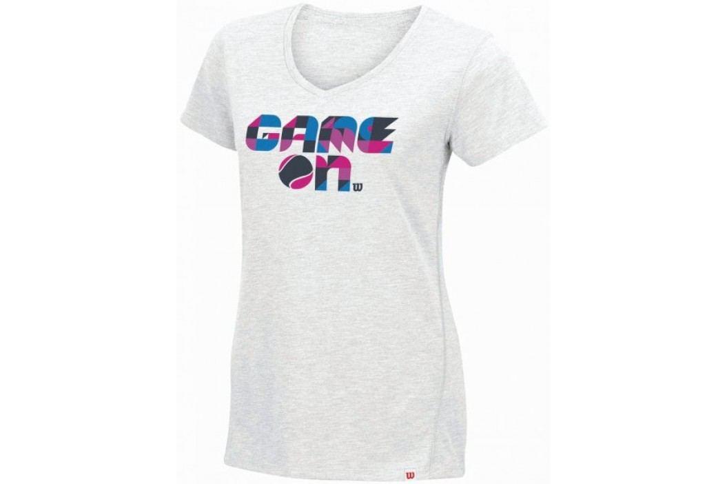 Wilson damska koszulka tenisowa Spring Game On Tech T White Heather S Koszulki biegowe, fitness