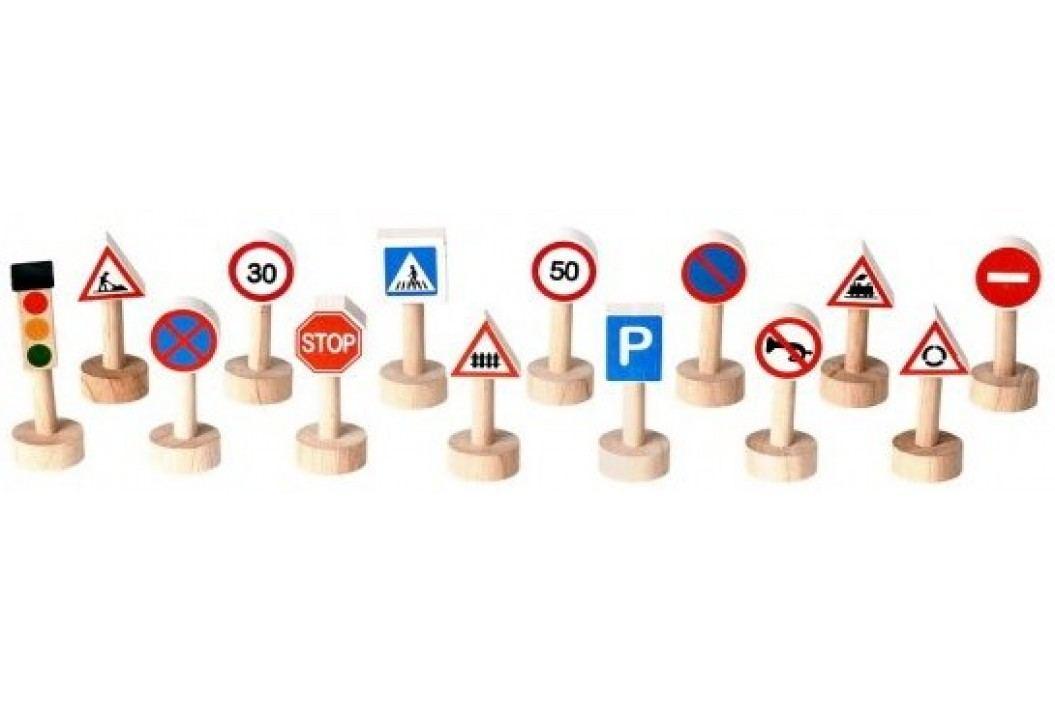 Plan Toys Znaki drogowe i światła Dydaktyczne