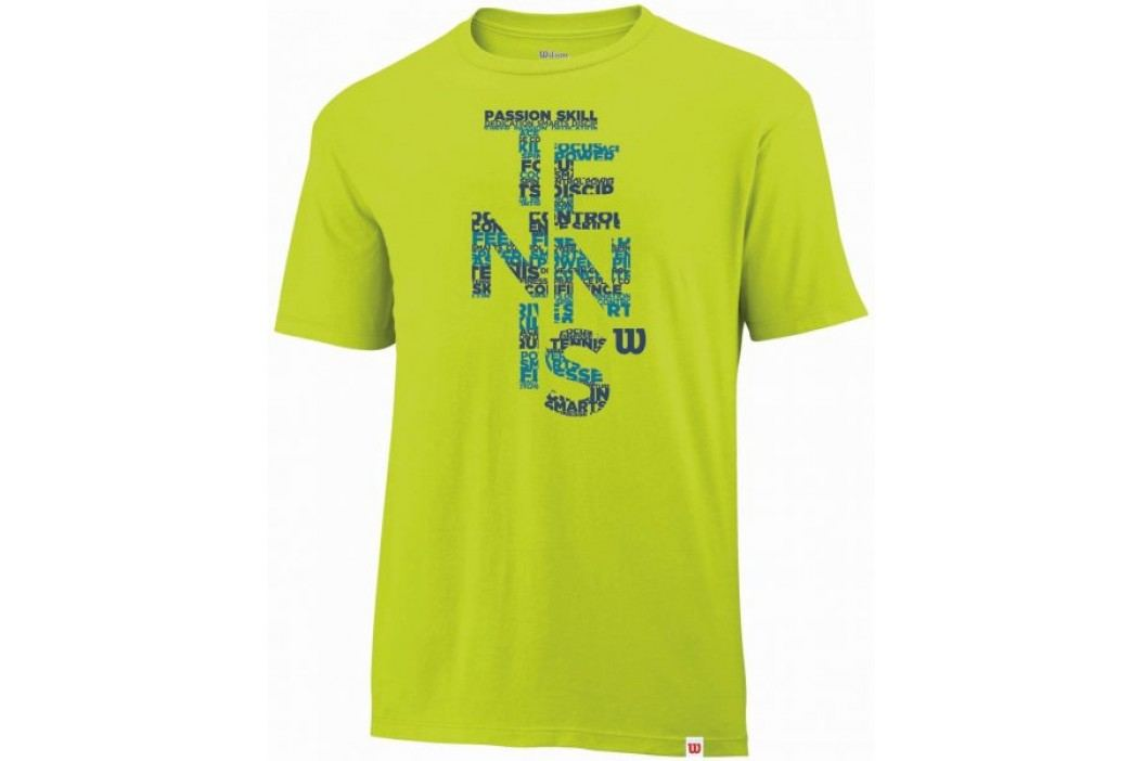 Wilson koszulka męska Spring Tennis Tech T Solar Lime M Koszulki biegowe, fitness