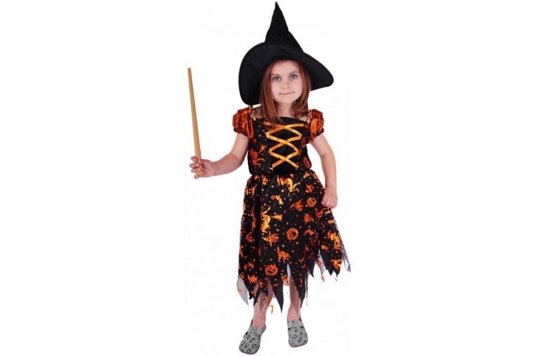 Rappa Kostium Czarownicy z kapeluszem, S Kostiumy dziecięce