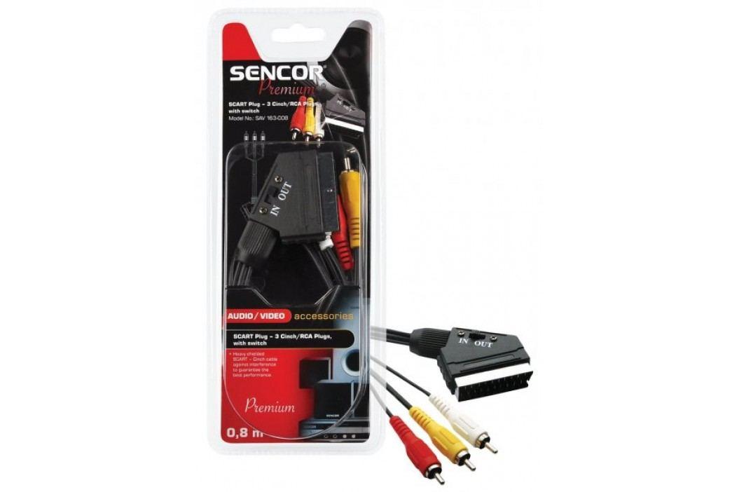 SENCOR SAV 163-015 (SCART - 3x cinch kabel) Przewody