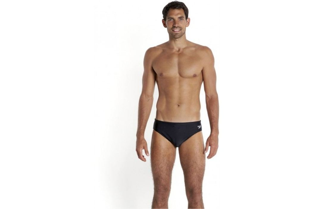 Speedo Essential Logo 6.5cm Brief Black Stroje kąpielowe