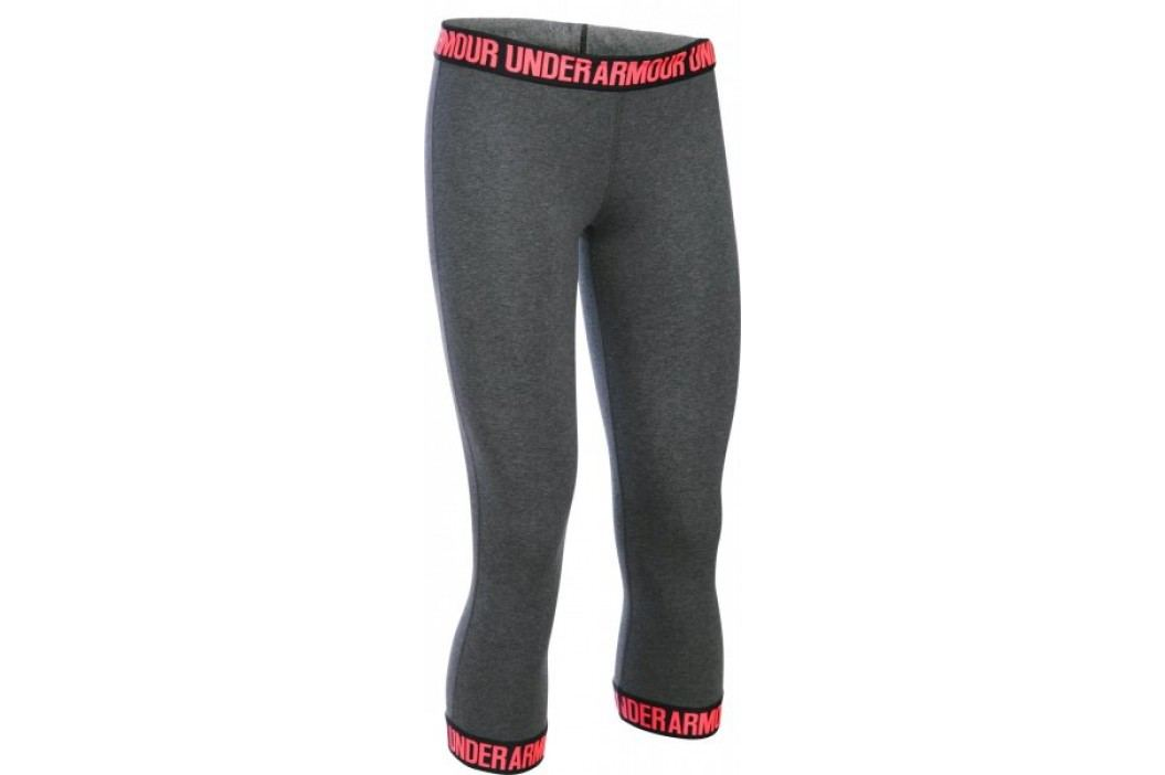 Under Armour legginsy Favorite Capri Hem Carbon Heather Black Brilliance XS Biegowe i fitness