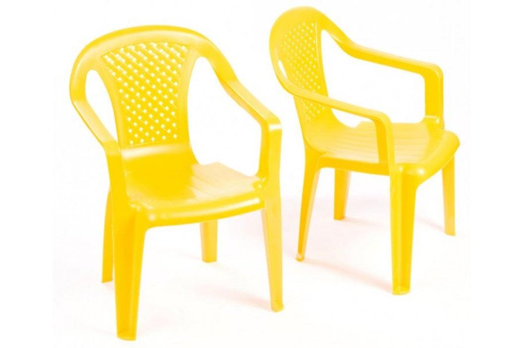 Grand Soleil 2 krzesła dla dzieci, żółte Meble dla dzieci