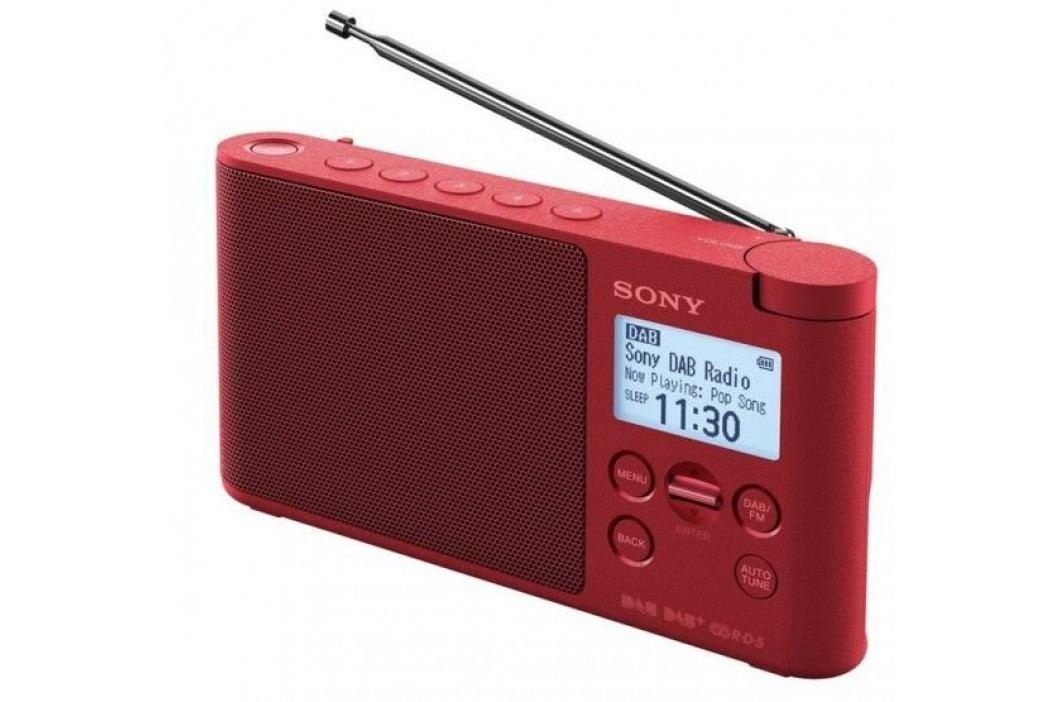 SONY radio przenośne XDRS41D, czerwony Radia