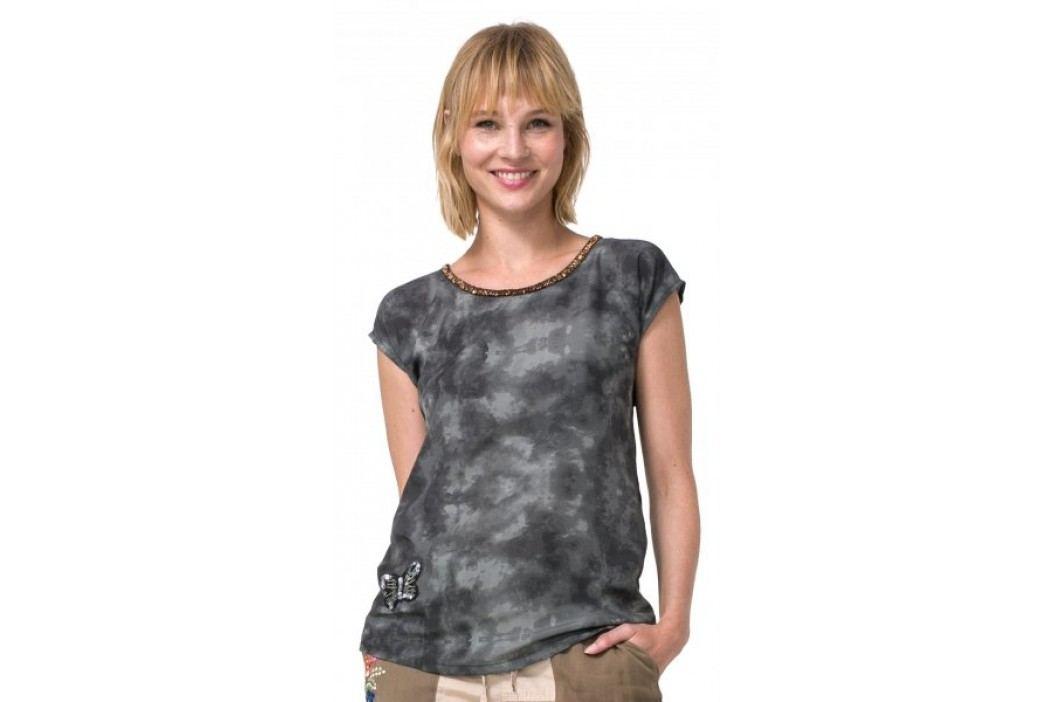 Desigual T-shirt damski North Dakota XS khaki Koszulki