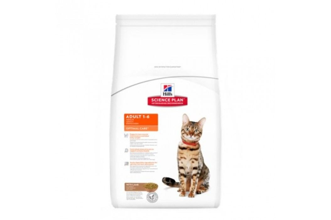 Hill's sucha karma dla kota SP Adult Optimal Care Lamb - 2 kg Karma sucha
