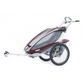 Thule przyczepka rowerowa Chariot CX 1 Burgundy Disc + Bike