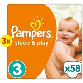 Pampers Pieluchy Sleep&Play Economy 3 Midi - 3 x 58 szt