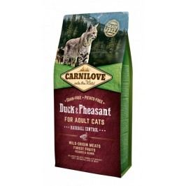 Carnilove sucha karma dla kota Duck & Pheasant for Adult Cats – Hairball Control 6 kg