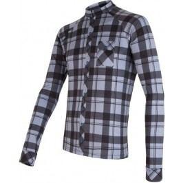 Sensor Koszulka rowerowa w kratę Black/Gray  L