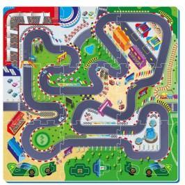 Teddies BABY Puzzle piankowe Tor wyścigowy 6 el.