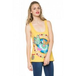Desigual koszulka bez rękawów damska S zółty