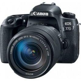 Canon lustrzanka cyfrowa EOS 77D + 18-135 IS USM