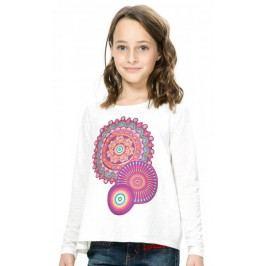 Desigual T-shirt dziewczęcy 104 kremowy