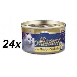 Finnern mokra karma dla kota Miamor filet z tuńczyka + jaja przepiórcze 24 x 100 g