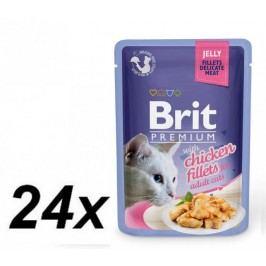 Brit Premium Cat Delicate Filety w galaretce z kurczakiem 24 x 85 g