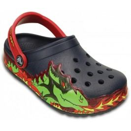 Crocs buty CrocsLights Fire Dragon Clog K Navy 23-24 (C7)
