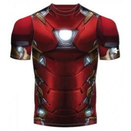 Under Armour koszulka Iron Man Suit SS Cardinal White YL