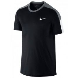 Nike koszulka do tenisa Team Court Crew 644784 010 L