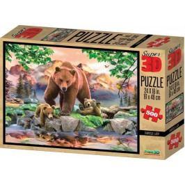 Lamps Puzzle 3D Niedźwiedzie 500 el.