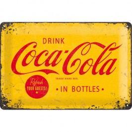 Postershop Metalowa tabliczka Coca-Cola (żółte logo)