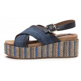 Wrangler sandały damskie Tempura Straw 36 niebieski