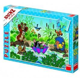 DINO Krecik i plaża puzzle, 100XL szt